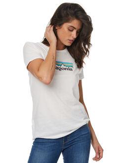WHITE WOMENS CLOTHING PATAGONIA TEES - 39079WHI