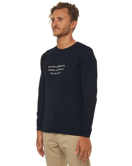 BLACK MENS CLOTHING RHYTHM TEES - JAN18M-PT04BLK
