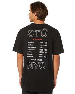 BLACK MENS CLOTHING STUSSY TEES - ST095002BLACK