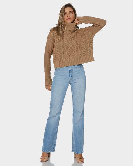 MOCHA WOMENS CLOTHING NUDE LUCY KNITS + CARDIGANS - NU23883MOCHA