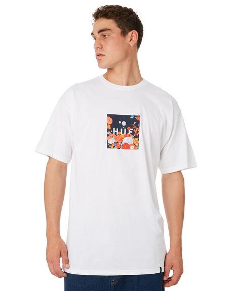 WHITE MENS CLOTHING HUF TEES - TS00386-WHITE