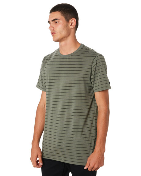 MID GREEN MENS CLOTHING RIP CURL TEES - CTELP29436