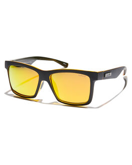 BLACK ORANGE MENS ACCESSORIES LIIVE VISION SUNGLASSES - L0676ABLKOR