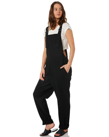 BLACK WOMENS CLOTHING RUSTY PLAYSUITS + OVERALLS - MCL0285BLK