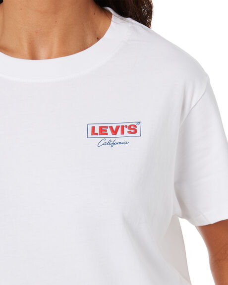 HIT WHITE GRAPHIC WOMENS CLOTHING LEVI'S TEES - 69973-0076HITWH