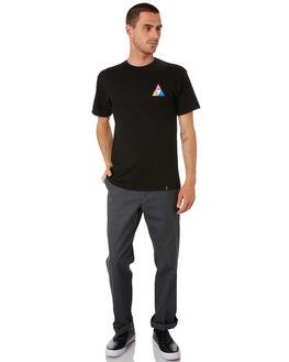 BLAC MENS CLOTHING HUF TEES - TS00908-BLACK