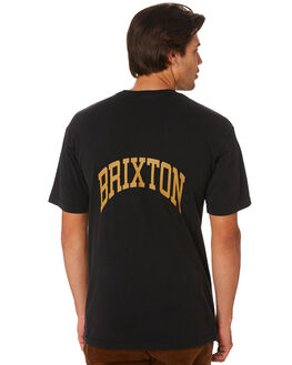 BLACK MENS CLOTHING BRIXTON TEES - 16064BLACK