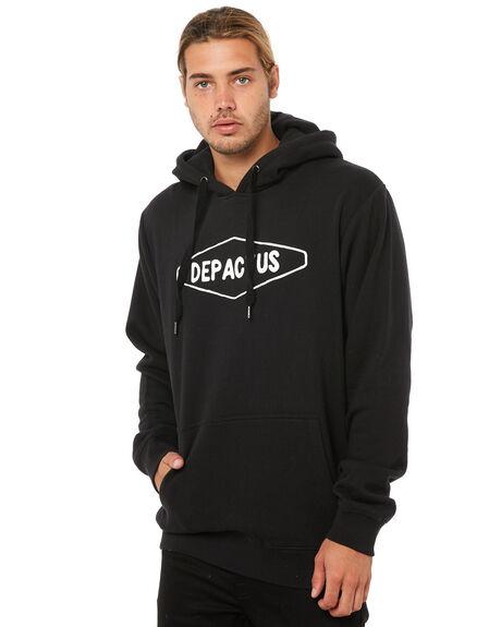 BLACK MENS CLOTHING DEPACTUS JUMPERS - D5183442BLACK