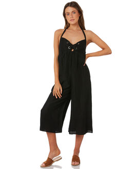 BLACK WOMENS CLOTHING BILLABONG PLAYSUITS + OVERALLS - 6582518BLK