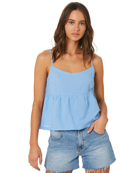 BLUE WOMENS CLOTHING SWELL FASHION TOPS - S8201026BLU