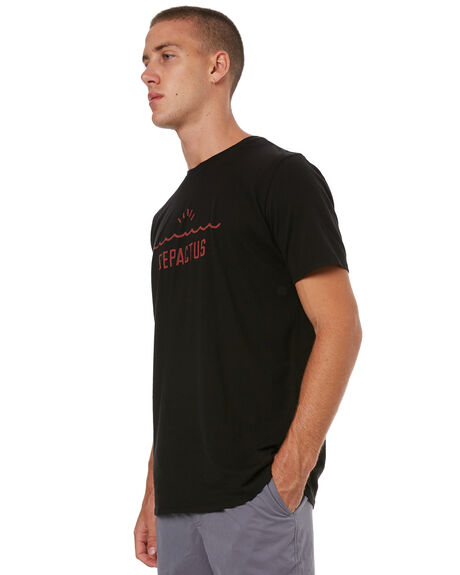 BLACK MENS CLOTHING DEPACTUS TEES - D5171005BLACK