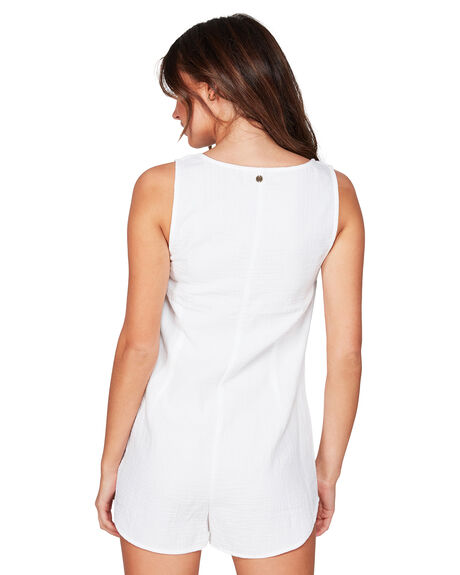 WHITE WOMENS CLOTHING BILLABONG PLAYSUITS + OVERALLS - BB-6507154-WHT
