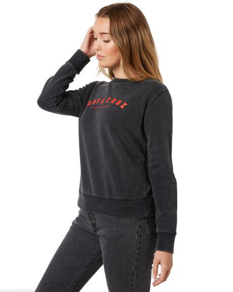 ACID BLACK WOMENS CLOTHING SANTA CRUZ JUMPERS - SC-WFB9872ABLK