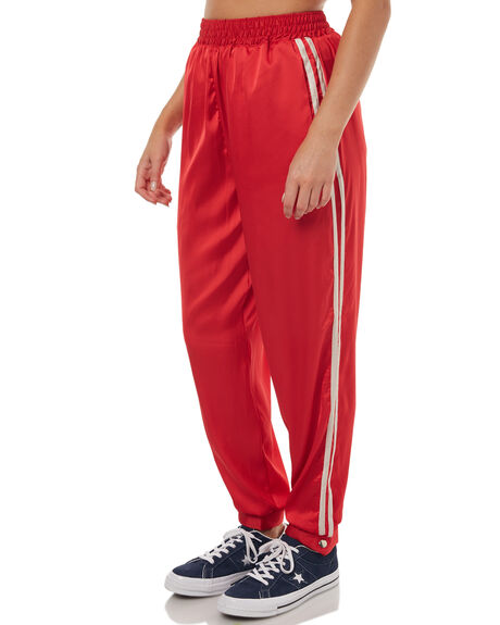 RED WOMENS CLOTHING STUSSY PANTS - ST172610RED