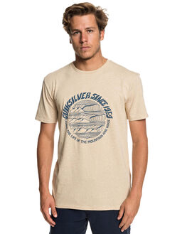 WARM SAND HEATHER MENS CLOTHING QUIKSILVER TEES - EQYZT05228-TGSH