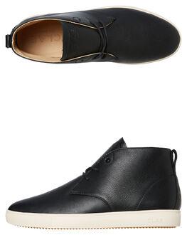 BLACK LEATHER MENS FOOTWEAR CLAE SNEAKERS - CL19CSU01BLK