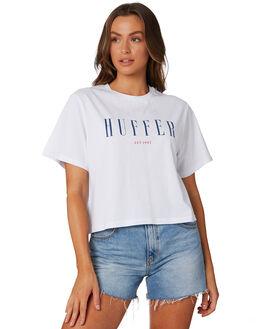 WHITE WOMENS CLOTHING HUFFER TEES - WTE94S72-398WHI