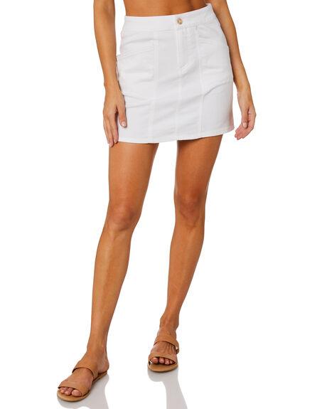 WHITE WOMENS CLOTHING RUSTY SKIRTS - SKL0512WHT
