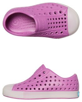 PEACE PURPLE GLOW KIDS TODDLER GIRLS NATIVE FOOTWEAR - 13100100-8513