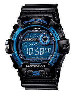 BLACK BLUE MENS ACCESSORIES G SHOCK WATCHES - G8900A1BLK