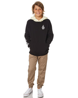 BLACK COMBO KIDS BOYS VOLCOM JUMPERS + JACKETS - C4131805BLC