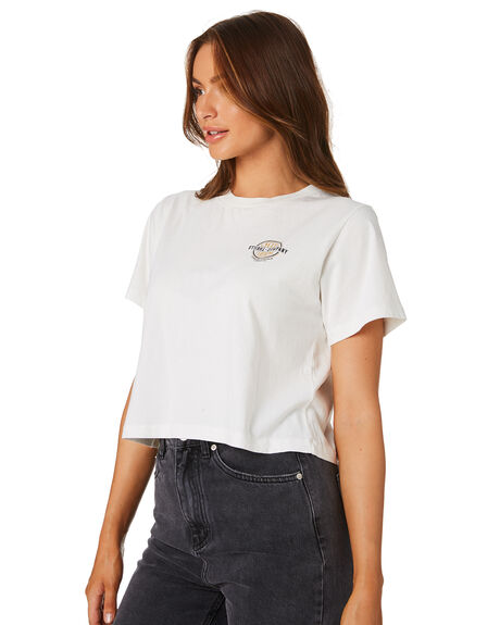 DIRTY WHITE WOMENS CLOTHING THRILLS TEES - WTS9-130AWHI