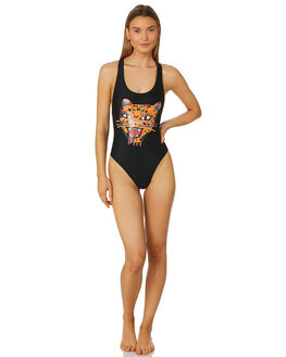 BLACK COMBO WOMENS SWIMWEAR VOLCOM ONE PIECES - O3011807BLC