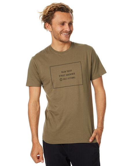 ARMY GREEN MENS CLOTHING THRILLS TEES - TS7-108FAGRN