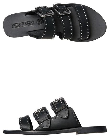 BLACK WOMENS FOOTWEAR SOL SANA SLIDES - SS181S303BLK