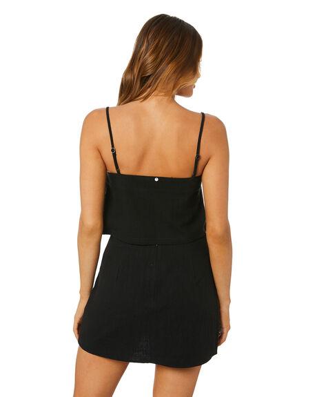 BLACK WOMENS CLOTHING RUSTY FASHION TOPS - WSL0688-BLK