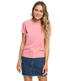 BRANDIED APRICOT WOMENS CLOTHING ROXY TEES - ERJZT04512-MJG0