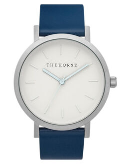 SILVER WHITE NAVY MENS ACCESSORIES THE HORSE WATCHES - ST0123A19