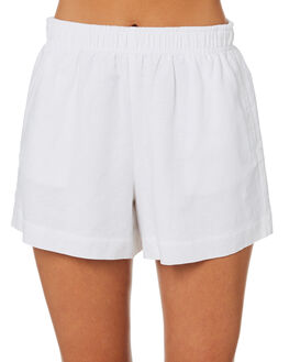 WHITE WOMENS CLOTHING NUDE LUCY SHORTS - NU23803WHT