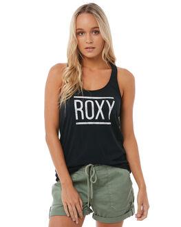 ANTHRACITE WOMENS CLOTHING ROXY SINGLETS - ERJZT04202KVJ0