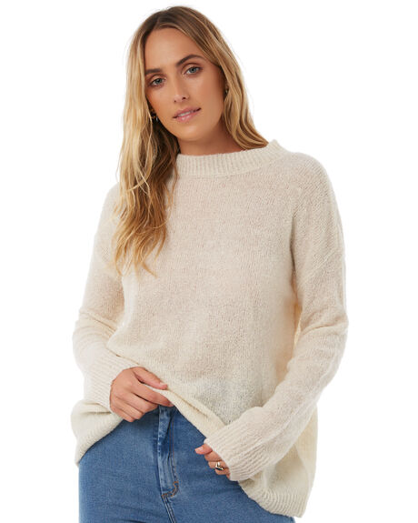 CREAM WOMENS CLOTHING THE HIDDEN WAY KNITS + CARDIGANS - H8174146CRM