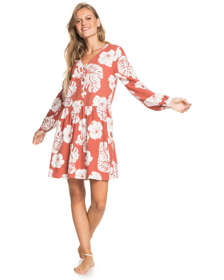 MARSALA ISHA WOMENS CLOTHING ROXY DRESSES - ERJWD03537-MPD6