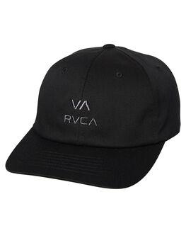 BLACK MENS ACCESSORIES RVCA HEADWEAR - R383561BLK