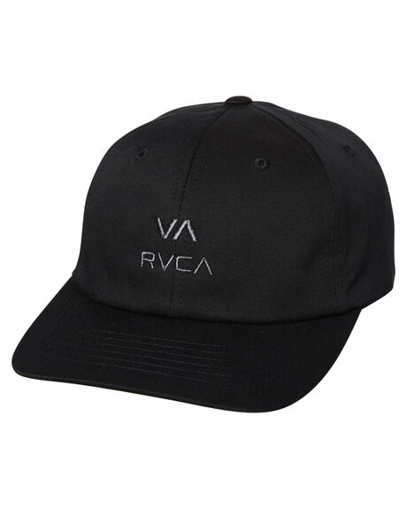 BLACK MENS ACCESSORIES RVCA HEADWEAR - R383561BLK
