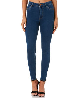 ABSTRACT BLUE WOMENS CLOTHING CHEAP MONDAY JEANS - 0581752ABLU