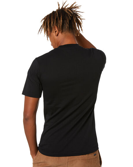 BLACK MENS CLOTHING MR SIMPLE TEES - M-01-66-01BLK