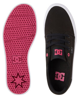 BLACK/FUCHSIA WOMENS FOOTWEAR DC SHOES SNEAKERS - ADJS300184-BFU