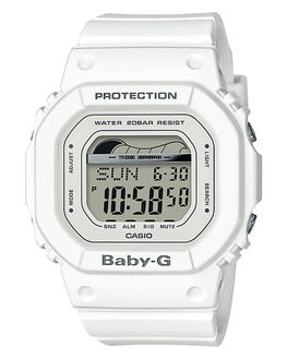 WHITE WOMENS ACCESSORIES BABY G WATCHES - BLX560-7DWHI