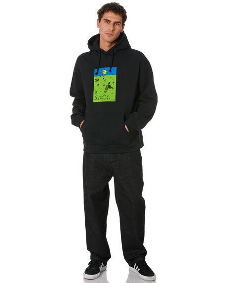 WASHED BLACK MENS CLOTHING MISFIT JUMPERS - MT006201WSBLK