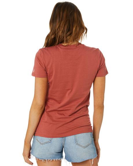 VINTAGE  BROWN WOMENS CLOTHING VOLCOM TEES - B3541876VBN