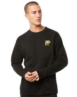 BLACK MENS CLOTHING PASS PORT JUMPERS - R23WORLDRECBLK