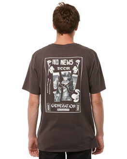 WASHED BLACK OUTLET MENS NO NEWS TEES - N5182002WSHBK