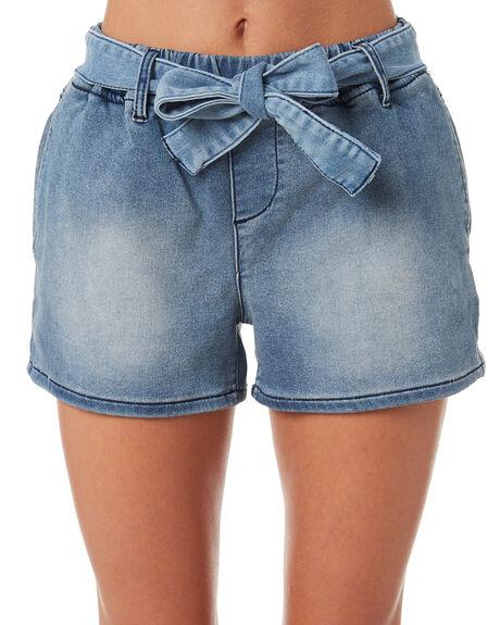 DARK INDIGO WOMENS CLOTHING BETTY BASICS SHORTS - BB808S18IND