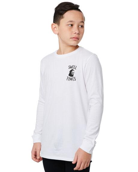 WHITE KIDS BOYS SWELL TOPS - S3194100WHITE