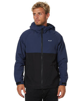 NAVY MENS CLOTHING HUF JACKETS - JK00009NVY