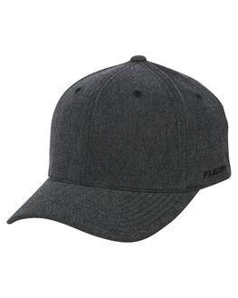 MELANGE BLACK MENS ACCESSORIES FLEX FIT HEADWEAR - 161601MEBLK